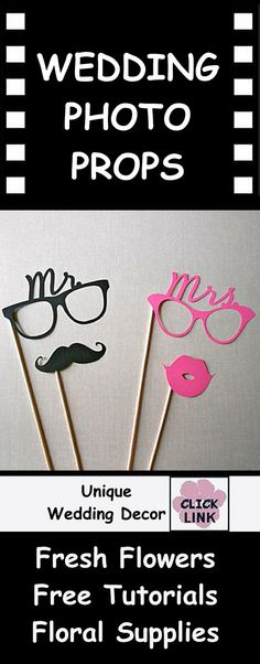Wedding Decoration Ideas - Photo Props - Mr. and Mrs. Masks make a great idea for reception photos!