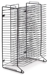 "Blick StakRak (12"" x 18"" drying area) $85 - sturdy enough for paper storage, can be wall mounted, mounted back to back with another rack or put on casters."