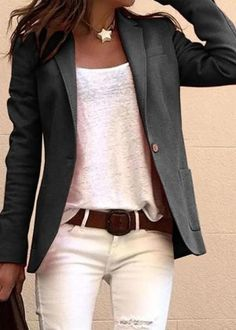 Casual Work Outfits, Mode Outfits, Work Casual, Casual Chic, Fashion Outfits, Womens Fashion, Casual Wear, Dress Outfits, Blazer Outfits