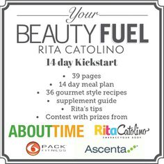 You still have a couple of days to join @Rcatolino 's 14-Day Kickstart @YourBeautyfuel plan! Get 2-weeks of detailed meal plans and a chance to win tons of prizes from ABOUT TIME,  @6packbags and more! Details at YourBeautyFuel.com  #yourbeautyfuel #6packfitness #travelfit #tryabouttime #kickstart