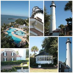 St Simons Lighthouse Collage - Love St. Simons!  Great article on things to do while in St. Simons, GA