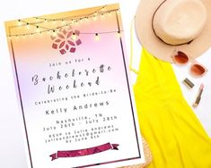 Bachelorette Invitation with Itinerary