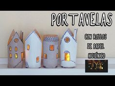 In this tutorial we'll learn how to make a cardboard house using a toilet roll. You can use it as a candle holder for led candles. ♡Thaks for w. Christmas Crafts For Kids, Christmas Decorations, Christmas Ornaments, Holiday Decor, Recycled Decor, Diy Room Decor, Recycling, Arts And Crafts, Diy Projects