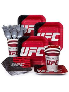 UFC STANDARD KIT (SERVES 8) - http://1stbirthdaypartytheme.com/ufc-standard-kit-serves-8-2.html