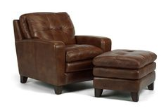 Flexsteel Furniture: Lounge Chairs: South StreetLeather Chair & Ottoman (1644-10-08)-  Available at Carter's Furniture,  Midland, Texas  432-682-2843