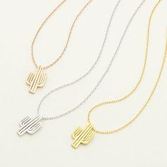 Cactus Necklace / saguaro cactus necklace, southwest style, tree necklace, southwestern desert jewelry / N271
