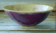 Wheel Thrown Pottery Bowl Raspberry Dust
