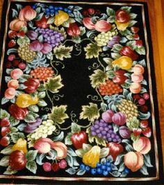 Hooked Fruits By Jane Olson Rug Hookinghand