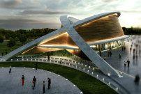 Schwimmhalle für Kurdistan geplant / Blütenblattdach - Architektur und Architekten - News / Meldungen / Nachrichten - BauNetz.de