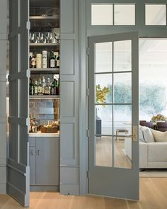 "1,396 Likes, 18 Comments - Lavender Hill Interiors (@lavenderhillinteriors) on Instagram: ""A hidden closet houses a discreet bar cabinet. Image via @archdigest."""