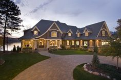 The Most Perfect House! On the lake, walkout basement, fire pit in the patio... It's just so beautiful!