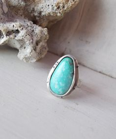 Natural light blue Royston turquoise sterling by CultivatedDreams