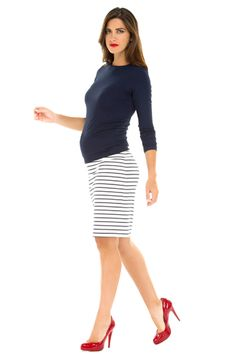 Mandy Modal 3/4 Sleeve Maternity Top by Olian | Maternity Clothes  Best selection of professional maternity clothes! available at Due Maternity www.duematernity.com