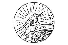 Ocean Wave (mandala Style) (SVG Cut file) by Creative Fabrica Crafts · Creative Fabrica - Ocean Wave (mandala Style) Craft Design By Creative Fabrica Crafts - Wave Tattoo Design, Wave Design, Ocean Tattoos, Turtle Tattoos, Tribal Tattoos, Tatoos, Neue Tattoos, Illustrator, Mandala Tattoo