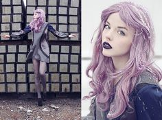 She looks like the Winter Queen, doesn't she ? I found the pic on her lookbook, a few month ago... can't remember the name =='