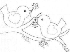 Ideas Embroidery Art Bird For 2019 Bird Embroidery, Hand Embroidery Patterns, Applique Patterns, Applique Quilts, Applique Designs, Quilting Designs, Embroidery Stitches, Machine Embroidery, Embroidery Designs