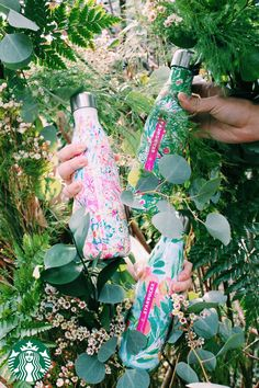 The new floral-patterned line of Lilly Pulitzer stainless-steel water bottles are double-wall and vacuum-sealed, to keep all liquids and carbonation fresh. Holds 17 fl oz. Available in select US stores.