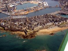 St Malo, France-- what young boy doesn't want to visit an walled city with a pirate past?!