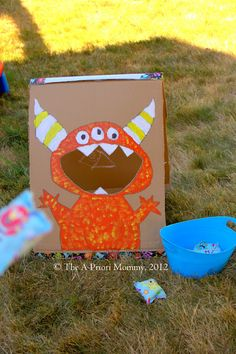 Monster Bean Bag toss and other monster party ideas!