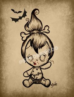 Tattoo Ideen Baby Zombie How To Choose A Chandelier Based On Style Chandelier Style Guide If you are Voodoo Doll Tattoo, Voodoo Dolls, Creepy Drawings, Cute Drawings, Zombie Drawings, Arte Horror, Horror Art, Art Zombie, Frankenstein Tattoo