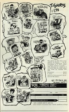 Early Roth T Shirt designs '63 http://www.vsrnonline.com/bdr_ads/CarCraftAug1963.jpg