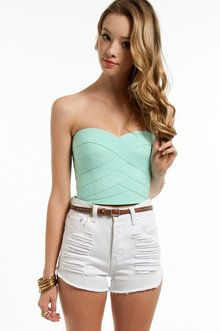 Hold Me Tight Bandage Bandeau in Mint