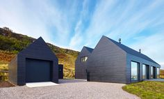 Colbost house is a sleek black residence on the Isle of Skye