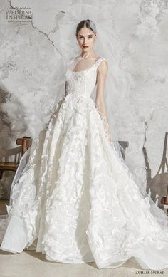 Luxury designer wedding dresses from Zuhair Murad are likely to set you back upwards of This gorgeous 2020 designer wedding dress collection is simply exquisite. dresses sirena zuhair murad 15 Big Budget Designer Wedding dresses ~ KISS THE BRIDE MAGAZINE Couture Wedding Gowns, Luxury Wedding Dress, Classic Wedding Dress, Princess Wedding Dresses, Best Wedding Dresses, Designer Wedding Dresses, Bridal Dresses, Dress Wedding, Wedding Shot