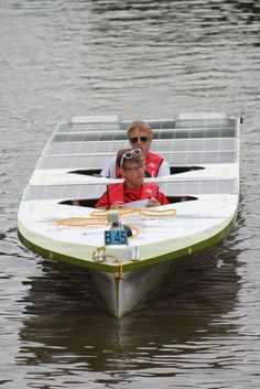 HvA Solarteam during the Dutch Solar Challenge 2014. They raced in the B class of the world cup for solar boats!
