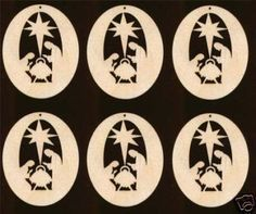 Image result for scroll saw nativity ornaments