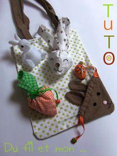 Sac ecolo sac lapin TUTO DIY by Du fil et mon ...