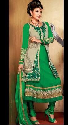 Majesty Green Chudidar Kameez
