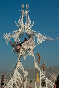 Burning man festival.Northern Nevada,United States.  Burning Man is a week-long annual event held in the Black Rock Desert in northern Nevada, in the United States. The event begins on the last Monday in August, and ends on the first Monday in September, which coincides with the American Labor Day holiday.