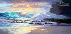 Limited Edition Giclee on Canvas Signed And Numbered Hand-Enhanced by the Artist Unframed Edition Size: 250 Image Size: x Scenery Pictures, Art Pictures, Art Pics, Photos, Seascape Paintings, Landscape Paintings, Landscapes, Art Paintings For Sale, Hawaiian Art