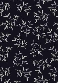 white leaves pattern
