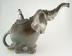Collectable Ceramic Bluesky Clayworks Elephant Tea Pot Brand New Elephant Teapot, Teapots And Cups, Tea Infuser, Chocolate Pots, Clay Art, Pottery Art, Fine China, Tea Pots, Ceramics