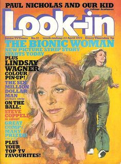 Lindsey Wagner as the bionic woman.