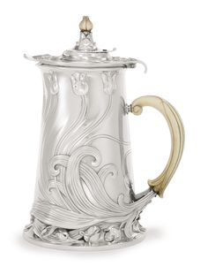 A FRENCH SILVER ART NOUVEAU CHOCOLATE POT, CARDEILHAC, PARIS, CIRCA 1900