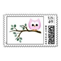 Pink Owl Stamps. This is a fully customizable business card and available on several paper types for your needs. You can upload your own image or use the image as is. Just click this template to get started!