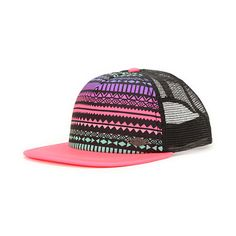 Instantly brighten any spring look with the Empyre Girls Jamboree purple and tribal print trucker hat. Head out with your friends with a tribal print padded front panel with black back mesh panels and bright neon pink bill to help the Jamboree trucker hat