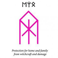 ᛖᛉᛟ — Ehwaz—Algiz—OthalaProtect the home and family from witchcraft and damage. Viking Symbols And Meanings, Rune Symbols, Alphabet Symbols, Magic Symbols, Celtic Symbols, Egyptian Symbols, Ancient Runes, Norse Runes, Norse Pagan