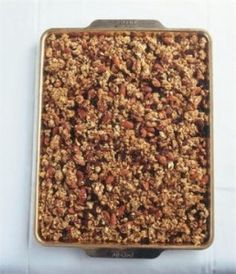 Nigella Lawson homemade granola. Must try, with substitutions.