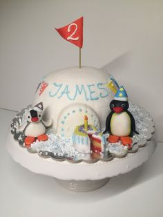 Pingu Pinga Iglu igloo birthday geburtstag cake torte party