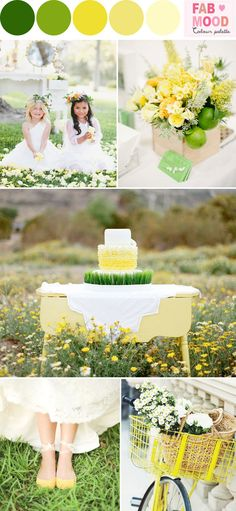 green yellow wedding ideas