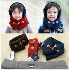 Retail 1sets free shipping 2013 new style designs POLO brand knitting kids scarfs baby neck warmer girl fashion scarves 4color