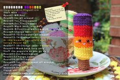 Amigurumi Rainbow popsicle tutorial by amigurumifood.blogspot.com