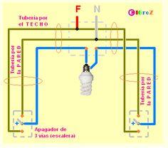 Two way light switch diagram staircase wiring diagram apagadores de escalera greentooth Gallery