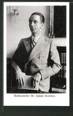 old postcard: AK Portrait Reichsminister Dr. Joseph Goebbels