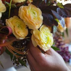 To give small blossoms a bit more oomph in a bouquet, group them in trios or sets of five.