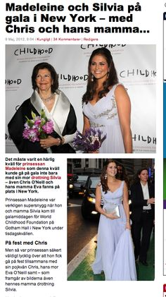 Queen Silvia and princess Madeleine of Sweden in New York.